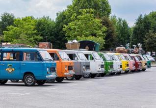 Vintage vans in Slovenia
